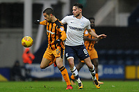 Alan Browne of Preston North End vies for the ball with Evandro Goebel of Hull City during Preston North End vs Hull City, Sky Bet EFL Championship Football at Deepdale on 3rd February 2018