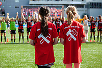 Portland, Oregon - Sunday June 2, 2019: The Portland Thorns defeated the Chicago Red Stars 3-0 in a regular season NWSL game at Providence Park.