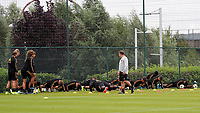 20190902 – TUBIZE , BELGIUM : Belgian players pictured during a training session of the U21 youth team of the Belgian national soccer team Red Devils , a training session as a preparation for their first game against Wales in the qualification for the European Championship round in group 9 on the road for Hungary and Slovenia in 2021, Monday 2 th September 2019 at the National training grounds in Tubize , Belgium. PHOTO SPORTPIX.BE | Sevil Oktem