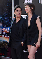 Charlotte Gainsbourg + Yvan Attal @ the premiere of 'Independence Day: Resurgence' held @ the Chinese theatre.<br /> June 20, 2016.
