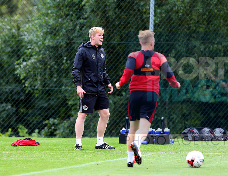 Head of Sports Science Matt Prestridge during the Sheffield Utd training session at the Shirebrook training complex, Sheffield. Picture date: 2nd September 2016. Picture Simon Bellis/Sportimage