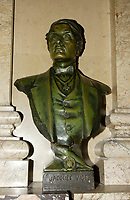 Montreal (QC) CANADA, March 16 to 19 2009 -  Bust of Jacques Viger, former Mayor of Montreal at City hall.
