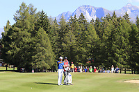 Lucas Bjerregaard (DEN) on the 17th hole during Sunday's Final Round 4 of the 2018 Omega European Masters, held at the Golf Club Crans-Sur-Sierre, Crans Montana, Switzerland. 9th September 2018.<br /> Picture: Eoin Clarke | Golffile<br /> <br /> <br /> All photos usage must carry mandatory copyright credit (&copy; Golffile | Eoin Clarke)