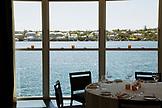 ERMUDA. Hamilton. View of the harbor from the Marcus' Restaurant.  The restaurant is located in the Hamilton Princess & Beach Club Hotel.