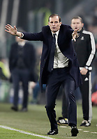 Football Soccer: UEFA Champions League Juventus vs FC Barcelona Allianz Stadium. Turin, Italy, November 22, 2017. <br /> Juventus' coach Massimiliano Allegri gestures during the Uefa Champions League football soccer match between Juventus and FC Barcelona at Allianz Stadium in Turin, November 22, 2017.<br /> UPDATE IMAGES PRESS/Isabella Bonotto