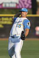 Roberto Alvarez of the Myrtle Beach Pelicans vs. the Frederick Keys at BB&T Coastal Field in Myrtle Beach, SC on April 11, 2008