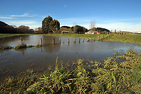 Flooding in rural Masterton, New Zealand on Wednesday, 19 July 2017. Photo: Dave Lintott / lintottphoto.co.nz