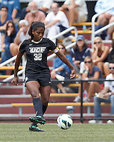 University of Central Florida defender Marissa Diggs (32) passes the ball. After two overtime periods, Boston College tied University of Central Florida, 2-2, at Newton Campus Field, September 9, 2012.