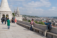 Tourists enjoy the view of the city on a spring day in Budapest, Hungary on May 17, 2019. ATTILA VOLGYI