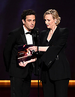 LOS ANGELES - SEPTEMBER 22:   Luke Kirby and Jane Lynch onstage at the 71st Primetime Emmy Awards at the Microsoft Theatre on September 22, 2019 in Los Angeles, California. (Photo by Frank Micelotta/Fox/PictureGroup)