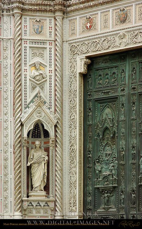 Main Portal Bronze Doors St Reparata Amalia Dupre Santa Maria del Fiore Florence