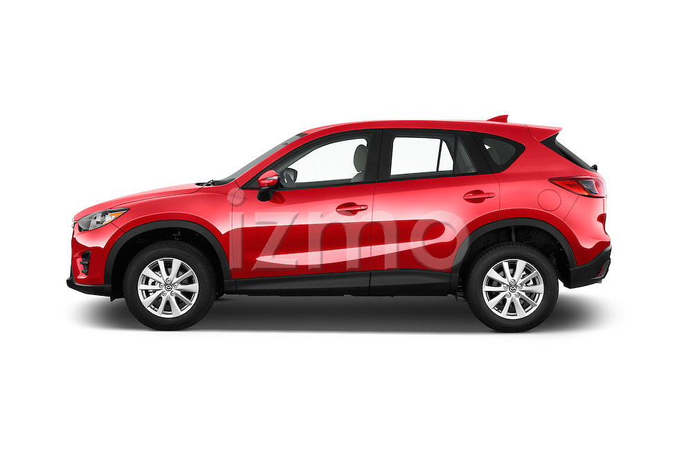 Car Driver side profile view of a2016 Mazda CX5 Premium Edition 5 Door SUV Side View