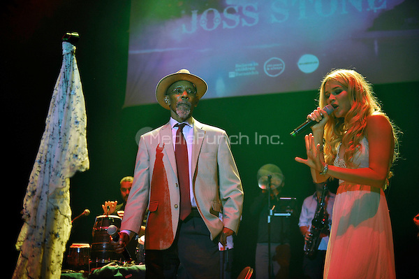 LONDON, ENGLAND - MAY 15: Linton Kwesi Johnson and Joss Stone performing at Camden Roundhouse on May 15, 2016 in London, England.<br /> CAP/MAR<br /> &copy;MAR/Capital Pictures /MediaPunch ***NORTH AMERICA AND SOUTH AMERICA ONLY***