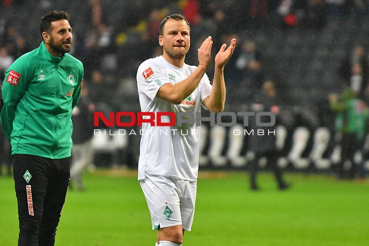 06.10.2019, Commerzbankarena, Frankfurt, GER, 1. FBL, Eintracht Frankfurt vs. SV Werder Bremen, <br /> <br /> DFL REGULATIONS PROHIBIT ANY USE OF PHOTOGRAPHS AS IMAGE SEQUENCES AND/OR QUASI-VIDEO.<br /> <br /> im Bild: Philipp Bargfrede (#44, SV Werder Bremen)<br /> <br /> Foto © nordphoto / Fabisch