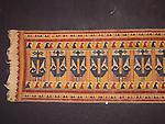Pre 1900 ceremonial Tatibin cloth with ancestral figures woven on hand spun cloth 37 X 170 CM