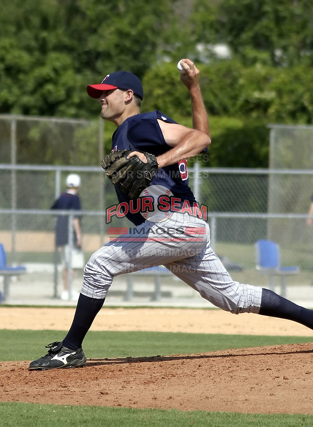 March 29, 2004:  Pitcher Pat Neshek of the Minnesota Twins organization during Spring Training at Dunedin Stadium in Dunedin, FL.  Photo copyright Mike Janes/Four Seam Images