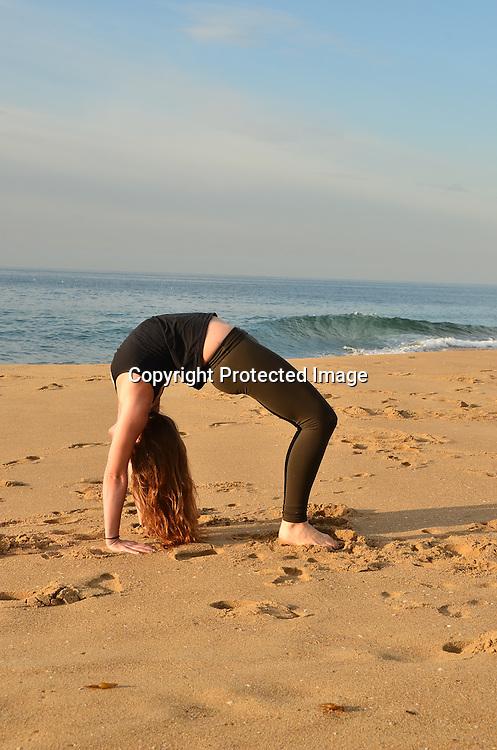 Stock photo woman using holistic yoga for health