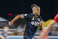 San Jose, CA - Wednesday September 27, 2017: Quincy Amarikwa during a Major League Soccer (MLS) match between the San Jose Earthquakes and the Chicago Fire at Avaya Stadium.