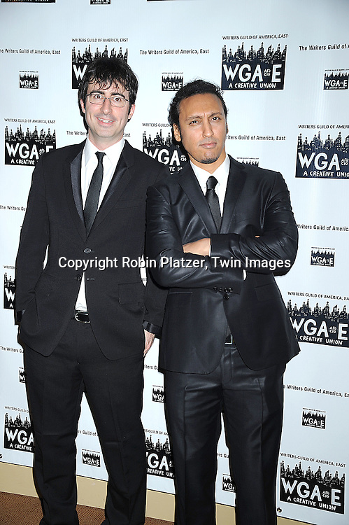 John Oliver and Aasif Mandvi..attending The 61st Annual Writer's Guild Awards on February 7, 2009 at The Hudson Theatre at The Millennium Broadway Hotel in New York City.....Robin Platzer, Twin Images
