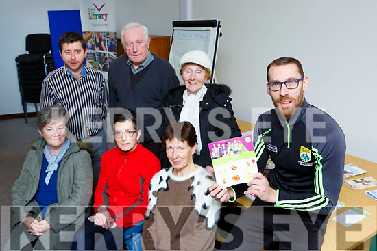 Former Kerry footballer gave a talk on Nutrition and exercise in Killarney Library on Friday front row l-r: Kathleen Coen, Kathleen Cronin and Patricia Gosh. Back row: Eamon Browne, Noel and Pearl Tansley