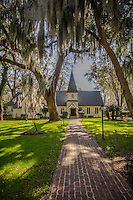 Christ Church is set in tall, mossy grass under towering oak trees. The church grounds include a cemetery. Christ Church, one of the oldest churches in Georgia, was founded on St. Simons Island nearly 70 years after the island was first settled by English colonists. Worship has been continuous since 1736 in Christ Church Parish, established by English colonists at Frederica under General James Oglethorpe.
