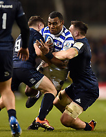 Semesa Rokoduguni of Bath Rugby takes on the Leinster defence. Heineken Champions Cup match, between Leinster Rugby and Bath Rugby on December 15, 2018 at the Aviva Stadium in Dublin, Republic of Ireland. Photo by: Patrick Khachfe / Onside Images
