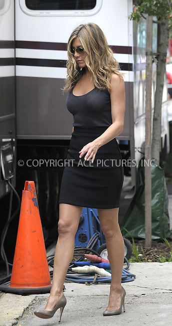 WWW.ACEPIXS.COM . . . . .  ....August 3 2009, New York City....Actress Jennifer Aniston on the set of the new movie 'Bounty' in Harlem on August 3 2009 in New York City....Please byline: AJ Sokalner - ACEPIXS.COM..... *** ***..Ace Pictures, Inc:  ..tel: (212) 243 8787..e-mail: info@acepixs.com..web: http://www.acepixs.com