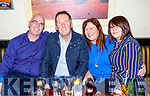 Brendan Kirby, Ger and Siobhan Hussey and Theresa Murphy enjoying a night out in the Greyhound Bar, Tralee on Saturday night.