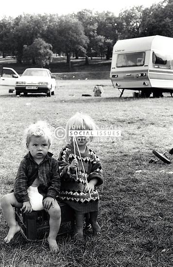 Traveller children UK 1980s