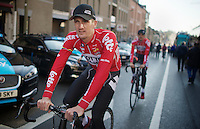 Jurgen Van den Broeck (BEL/Lotto-Belisol) to the sign-in<br /> <br /> La Flèche Wallonne 2014