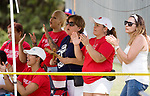 WATERBURY, CT-0712017JS18--Puerto Rico parents and fans cheer on their team during their Roberto Clemente World Series game against Wolcott Thursday at Municipal Stadium in Waterbury. <br /> Jim Shannon Republican-American