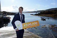 21-9-2017: Fran Whearty, Communications Executive, The National Lottery on his way to meet Mary Murphy, Post Mistress, Rerrin Post Office on Bere Island in County Cork after she sold a 500,000 Euro Millions Plus ticket. Photo: Don MacMonagle<br /> <br /> Issued on behlf of The National Lottery