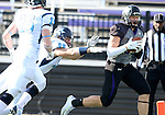SIOUX FALLS, SD - NOVEMBER 8: Nicholas Stanke #85 from the University of Sioux Falls hauls in a touchdown pass in front of Tyler Fisher #35 from Upper Iowa in the second quarter of their game Saturday afternoon at Bob Young Field in Sioux Falls.  (Photo by Dave Eggen/Inertia)