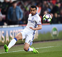 Chelsea's Pedro in action against Bournemouth<br /> <br /> Bournemouth 1 - Chelsea 3<br /> <br /> Photographer David Horton/CameraSport<br /> <br /> The Premier League - Bournemouth v Chelsea - Saturday 8th April 2017 - Vitality Stadium - Bournemouth<br /> <br /> World Copyright &copy; 2017 CameraSport. All rights reserved. 43 Linden Ave. Countesthorpe. Leicester. England. LE8 5PG - Tel: +44 (0) 116 277 4147 - admin@camerasport.com - www.camerasport.com