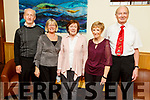 Mike and Celine Jones, Margaret O'Connor, Kathleen Condon and Tim Browne attending the Ballyduff Senior Citizens party in the Ballyroe Heights Hotel on Sunday.