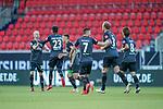 Jubel 0:1 Werder Eigentor Norman Theuerkauf (1. FC Heidenheim 1846 #30), Theodor Gebre Selassie (Werder Bremen #23), Milot Rashica (Werder Bremen #07) Davy Klaassen (Werder Bremen #30), Maximilian Eggestein (Werder Bremen #35), Milot Rashica (Werder Bremen #07), Yuya Osako (Werder Bremen #08), Kevin Vogt (Werder Bremen  #03)<br /> <br /> <br /> Sport: nphgm001: Fussball: 1. Bundesliga: Saison 19/20: Relegation 02; 1.FC Heidenheim vs SV Werder Bremen - 06.07.2020<br /> <br /> Foto: gumzmedia/nordphoto/POOL <br /> <br /> DFL regulations prohibit any use of photographs as image sequences and/or quasi-video.<br /> EDITORIAL USE ONLY<br /> National and international News-Agencies OUT.