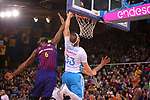 League ACB-ENDESA 2018/2019. Game: 14.<br /> FC Barcelona Lassa vs Monbus Obradoiro: 79-73.<br /> Chris Singleton vs Kyle Singler.