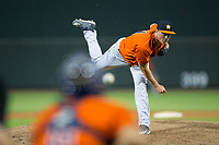 Buies Creek Astros relief pitcher Andrew Thome (11) delivers a pitch to the plate against the Winston-Salem Dash at BB&T Ballpark on April 15, 2017 in Winston-Salem, North Carolina.  The Astros defeated the Dash 13-6.  (Brian Westerholt/Four Seam Images)