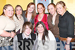 ODORNEY: Abbeydorney Sports Centre was in full swing as the New Year approached on Sunday night. Front l-r: Sean Price and Catriona O'Dowd. Back l-r: Mairead Donovan, Jacinta O'Dowd, Louise Price, Orlaith O'Halloran, Noreen Fealy and Siobhan Keane..