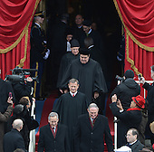 Chief Justice John Roberts leads in the Supreme Court for President Barack Obama to be sworn-in for a second term as the President of the United States by Supreme Court Chief Justice John Roberts during his public inauguration ceremony at the U.S. Capitol Building in Washington, D.C. on January 21, 2013.      .Credit: Pat Benic / Pool via CNP