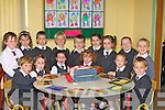 LEARNING: The junior infants of St Brendan's National School, Fenit, who started school on Monday.   Copyright Kerry's Eye 2008