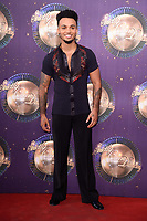 Aston Merrygold at the launch of the new series of &quot;Strictly Come Dancing&quot; at New Broadcasting House, London, UK. <br /> 28 August  2017<br /> Picture: Steve Vas/Featureflash/SilverHub 0208 004 5359 sales@silverhubmedia.com