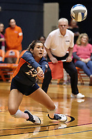 SAN ANTONIO, TX - OCTOBER 11, 2019: The Louisiana Tech University Lady Techsters fall to the University of Texas at San Antonio Roadrunners 3-1 (25-17, 25-16, 21-25, 25-18) at the UTSA Convocation Center. (Photo by Jeff Huehn)