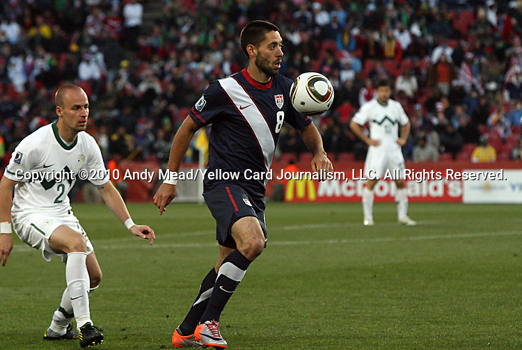18 JUN 2010:  Clint Dempsey (USA)(8).  The Slovenia National Team tied the United States National Team 2-2 at Ellis Park Stadium in Johannesburg, South Africa in a 2010 FIFA World Cup Group C match.