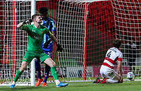Doncaster Rovers' Ian Lawlor reacts to Armand Gnanduillet's late goal<br /> <br /> Photographer Alex Dodd/CameraSport<br /> <br /> The EFL Sky Bet League One - Doncaster Rovers v Blackpool - Tuesday September 17th 2019 - Keepmoat Stadium - Doncaster<br /> <br /> World Copyright © 2019 CameraSport. All rights reserved. 43 Linden Ave. Countesthorpe. Leicester. England. LE8 5PG - Tel: +44 (0) 116 277 4147 - admin@camerasport.com - www.camerasport.com