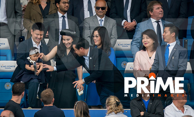 Leicester City Chairman Aiyawatt 'Top' Srivaddhanaprabha and family during the Premier League match between Leicester City and Wolverhampton Wanderers at the King Power Stadium, Leicester, England on 10 August 2019. Photo by Andy Rowland.