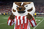 MADISON, WI - OCTOBER 11: Mascot Bucky Badger of the Wisconsin Badgers leads the marching band after the game against the Penn State Nittany Lions at Camp Randall Stadium on October 11, 2008 in Madison, Wisconsin. The Nittany Lions beat the Badgers 48-7. (Photo by David Stluka)