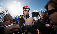 De Ronde van Vlaanderen 2012..Allesandro Ballan after the finish where he just became 3rd