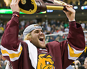 Trent Palm (Duluth - 5) - The University of Minnesota-Duluth Bulldogs celebrated their 2011 D1 National Championship win on Saturday, April 9, 2011, at the Xcel Energy Center in St. Paul, Minnesota.