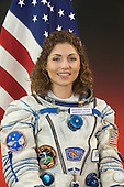 Star City, Russia - August 30, 2006 -- Anousheh Ansari, 39, the first female space tourist, attired in a Russian Sokol launch and entry suit, takes a break from an ISS Soyuz 13 (TMA-9) mission training session in Star City, Russia to pose for a portrait on November 8, 2005. The mission is scheduled to launch September 14, 2006..Credit: Gagarin Cosmonaut Training Center via CNP